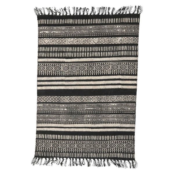 RUG, STACK, BLACK/GREY/NUDE