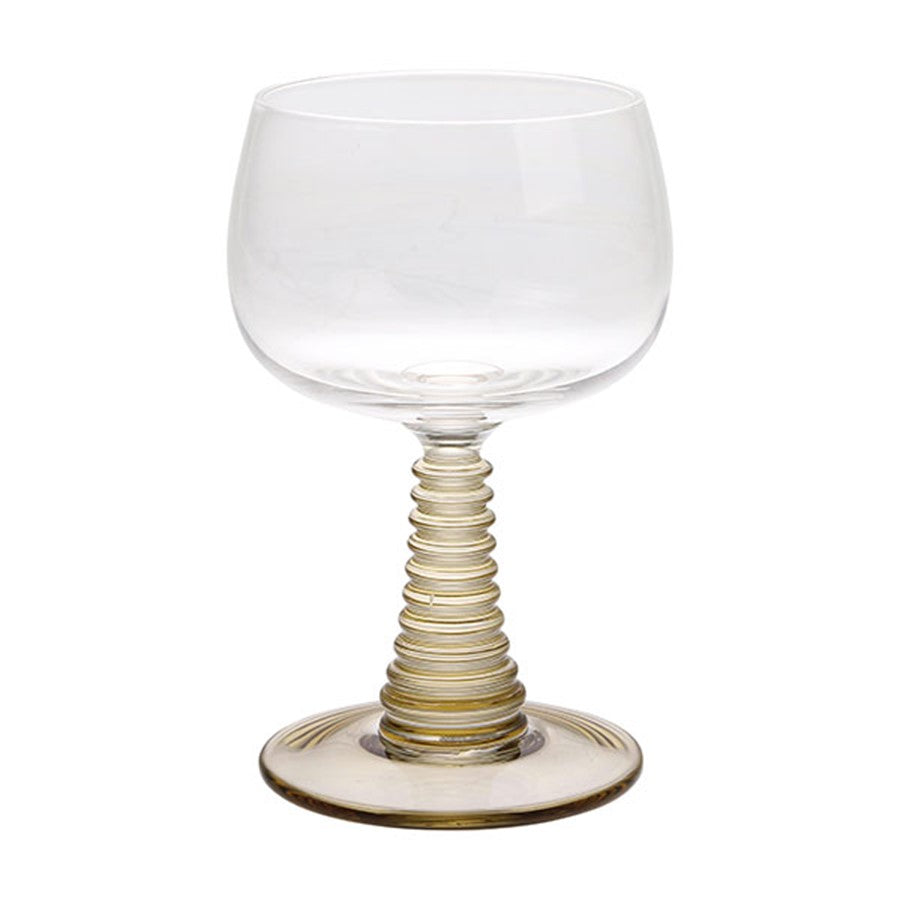 swirl wine glass green