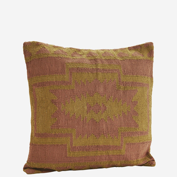 Mustard/dusty rose CUSHION COVER