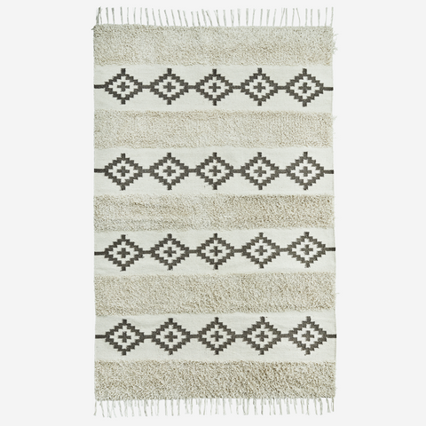 COTTON RUG W/ FRINGES