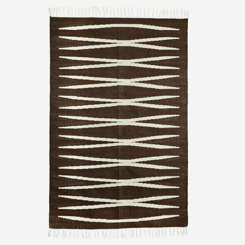Jute Rug- Brown/ Off-White