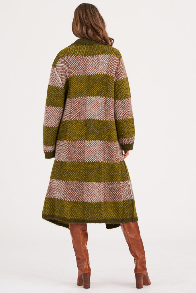 Antik Batik - Arthur Alpaca Long Cardigan - Green