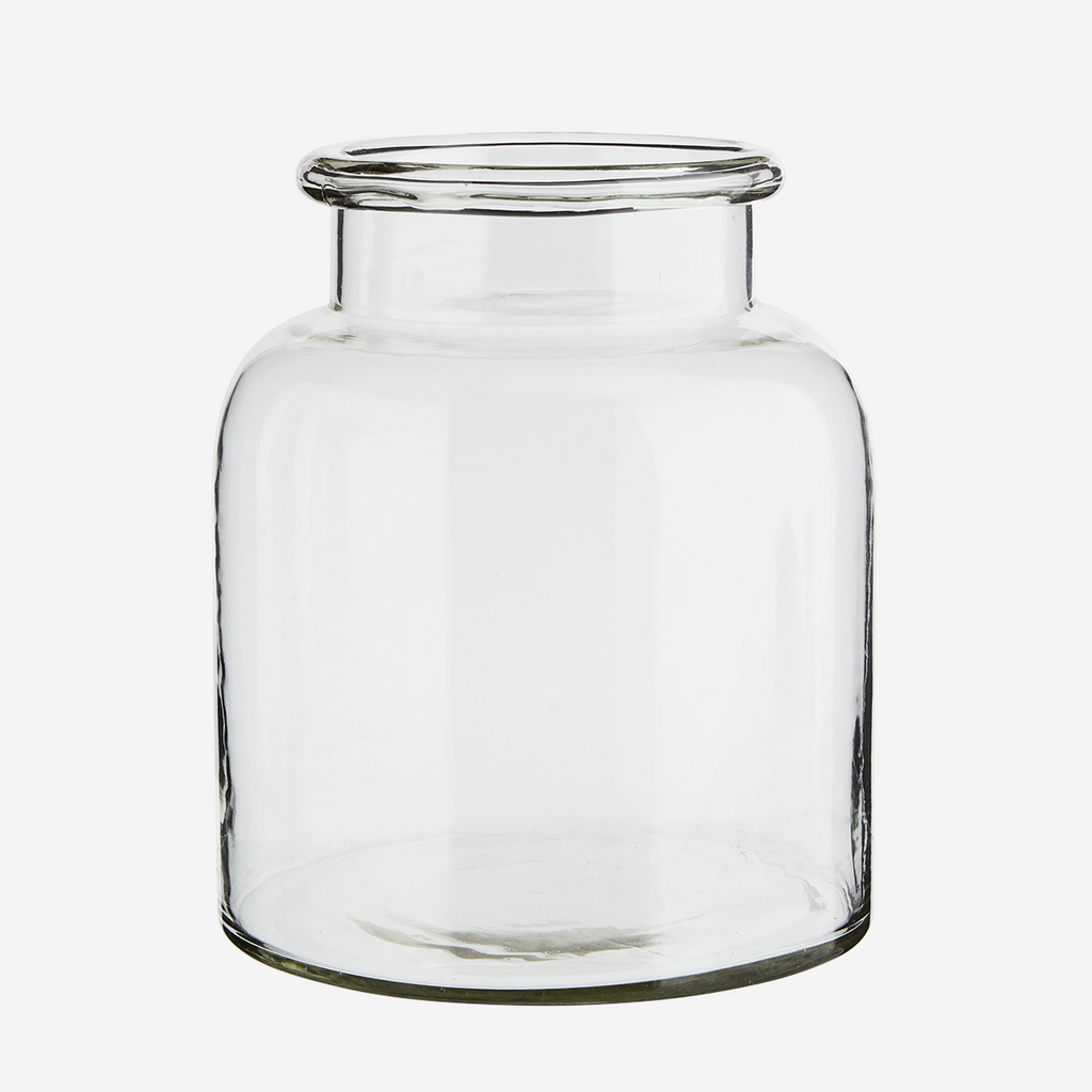 Medium Glass Vase, Clear