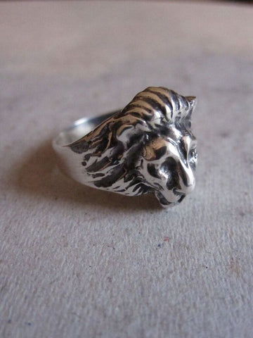 CollardManson 925 Silver Lion Ring