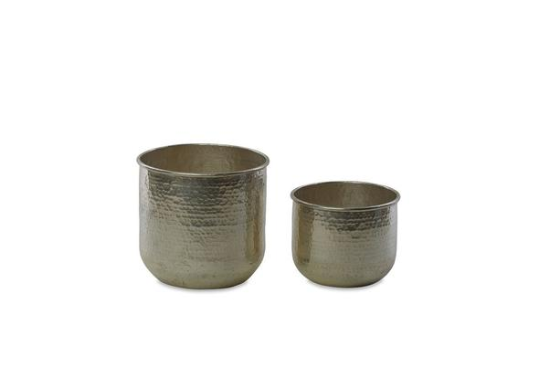 Round Planter - Silver -Large