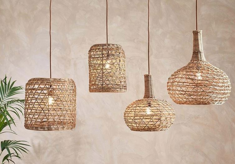 Beru Rattan Lampshade - Large Conical