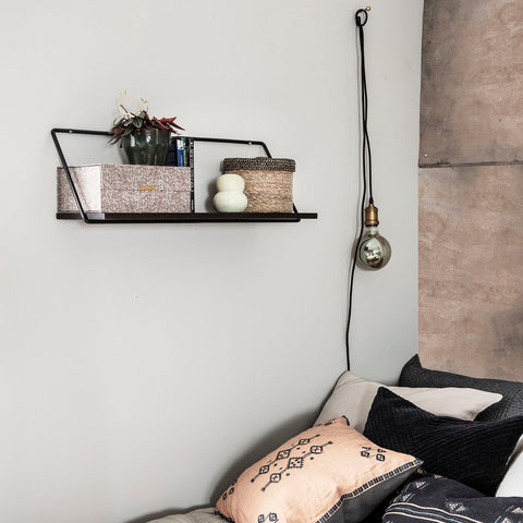 Shelf, Wired, Black stain