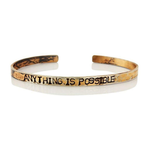 WDTS Sheffield Silver - Hand Hammered Bangle/Cuff -ANYTHING IS POSSIBLE - Mixed Finish
