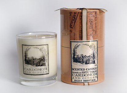 Glass Candle- Cardamom and Ginger