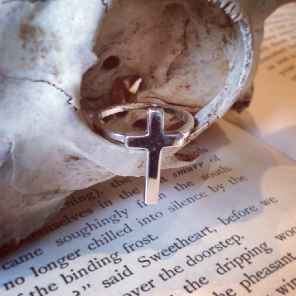 WDTS 925 Silver Cross Ring