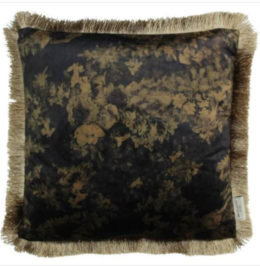 Cushion Flowers Black 15x45x45cm