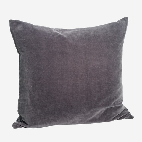 Velvet Cushion - dark purple