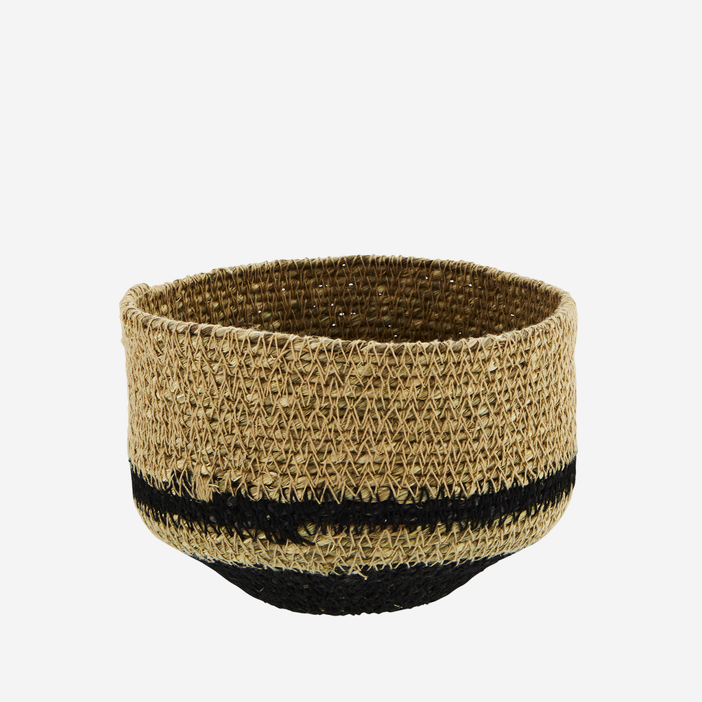 Seagrass Basket, Natural/Black