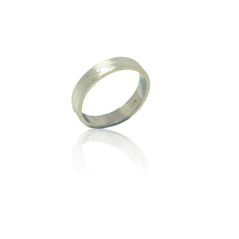 925 Solid Silver Brushed Finish Band