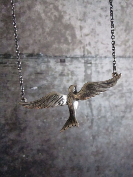 CollardManson 925 Silver Flying Bird Necklace