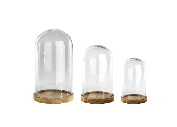 Clear Glass Dome Large