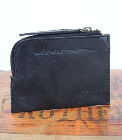 WDTS Black Leather Wallet