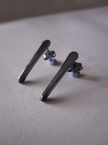 925 Silver Oxidised Twist Earrings