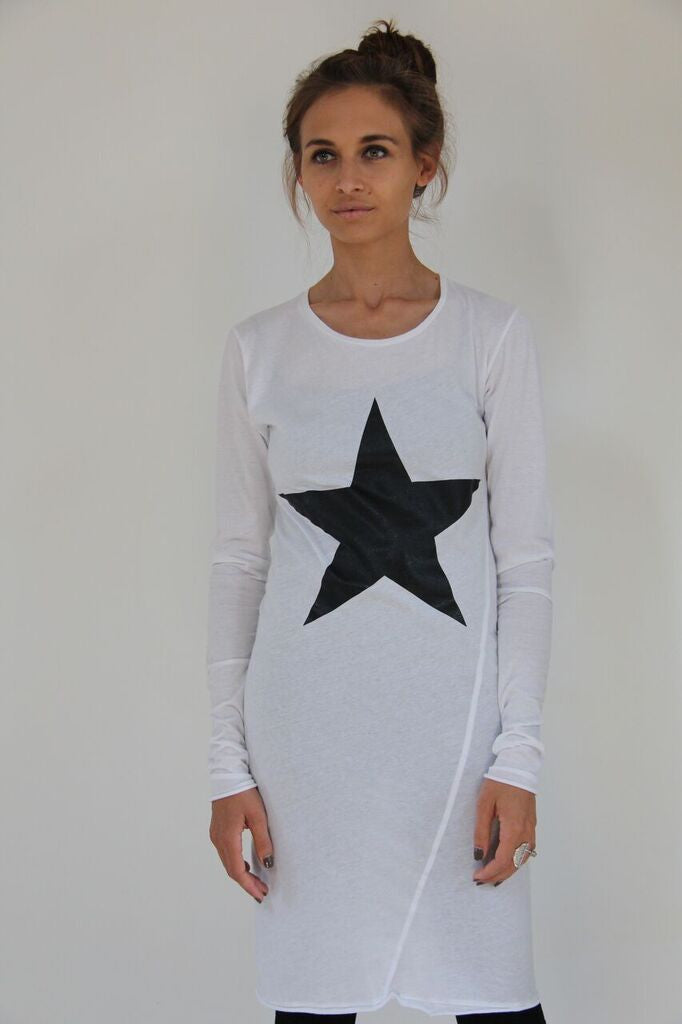 Window Dressing The Soul- Star White Dress