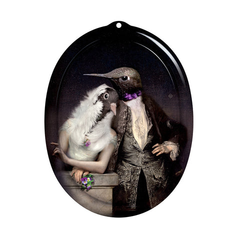 iBride Galerie De Portraits Oval Tray- The Lovebirds