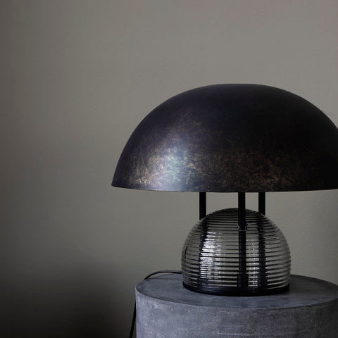 TABLE LAMP, UMBRA, ANTIQUE BROWN