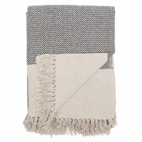Sefanit Throw, Grey, Recycled Cotton