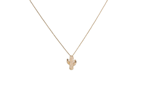 gold lucia cactus necklace
