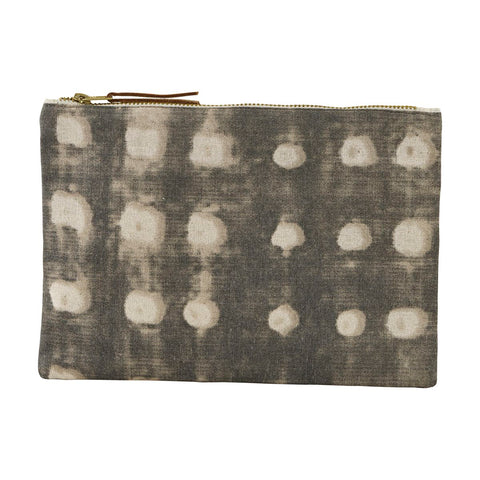 Cosmetic bag, Dots, Grey