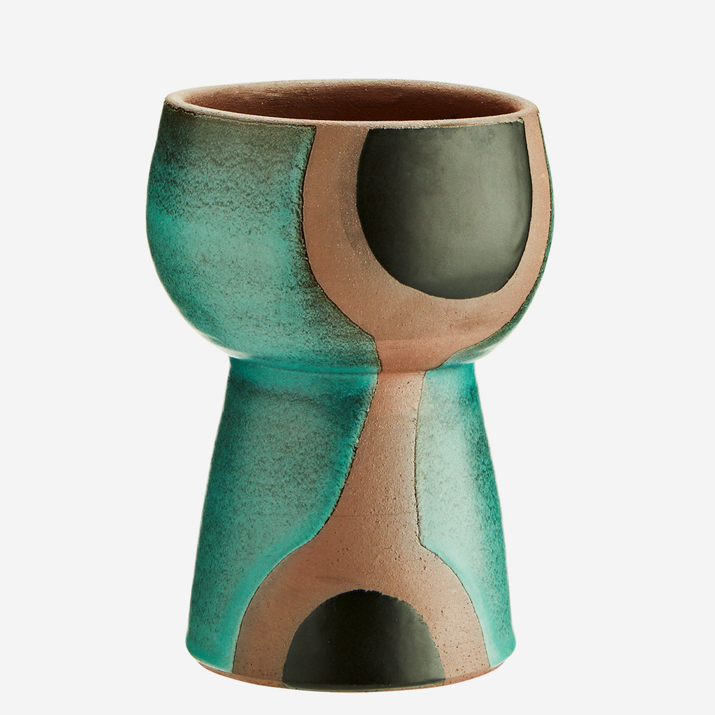 Terracotta Vase - Green Deco