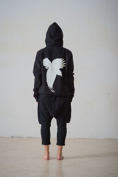 Window Dressing the Soul Crow Hoodie