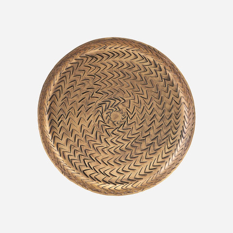 Medium Rattan Tray Brass finish