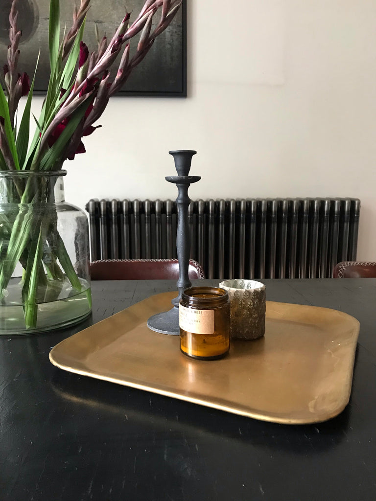 Square Lyra Tray - Brass