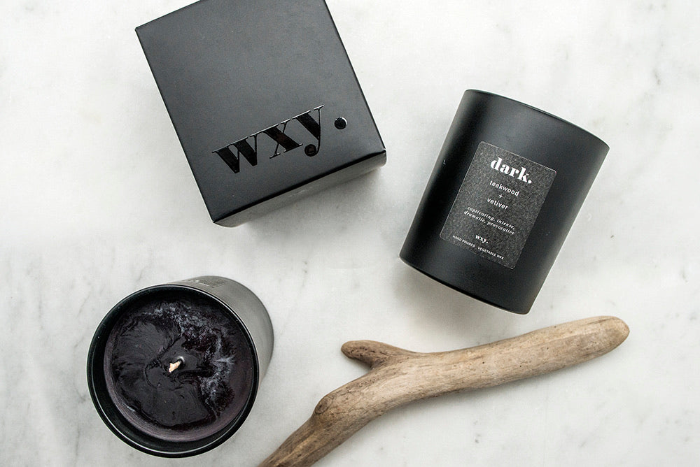 WXY Dark Candle Teakwood and Vetiver 7.0 oz candle