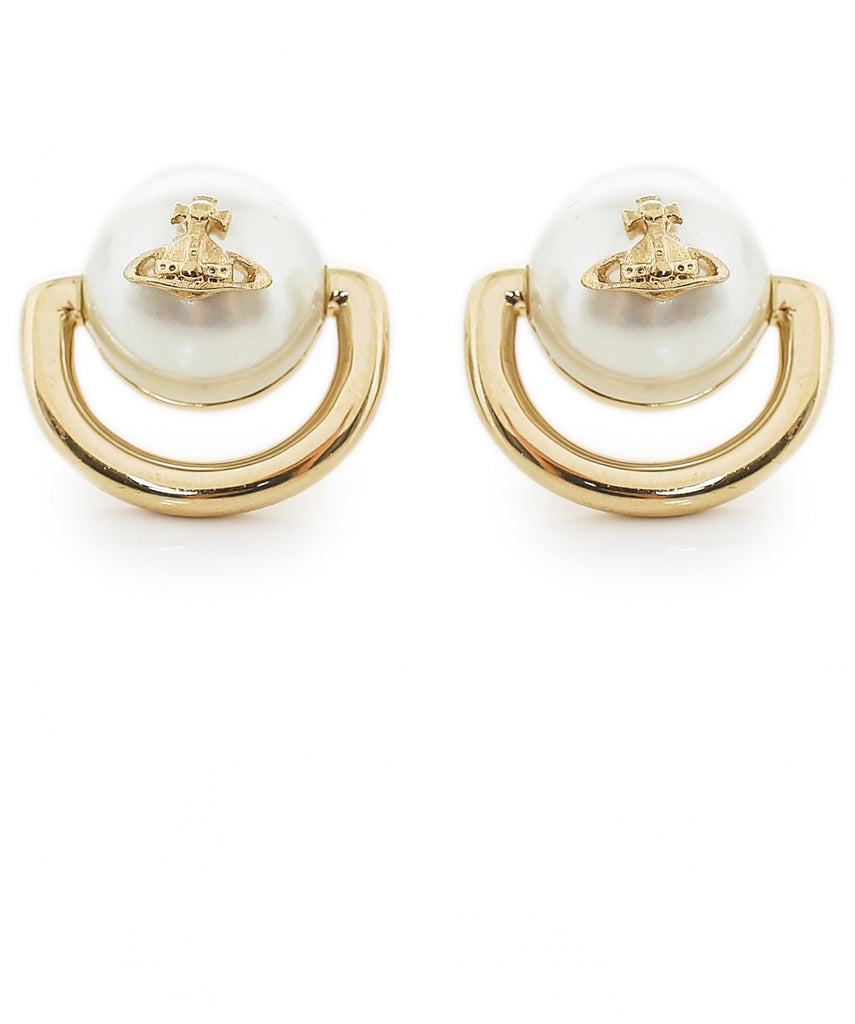 Vivienne Westwood Celia Small Earrings - Gold Cream