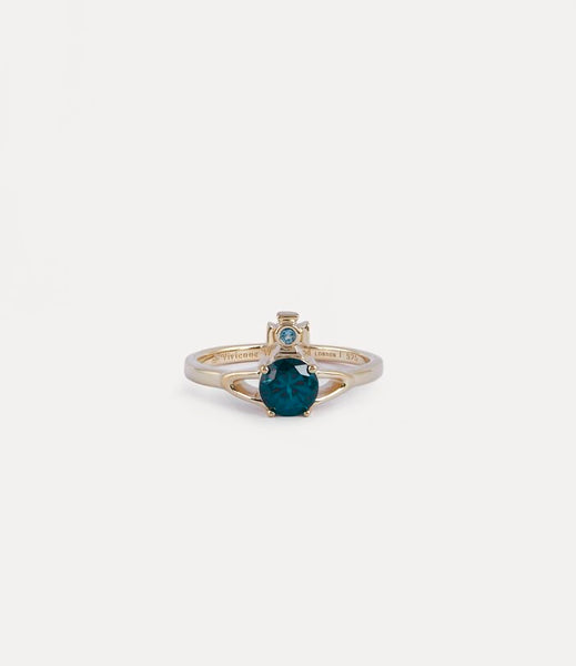 Vivienne Westwood Reina Petite Ring - Gold Turquoise