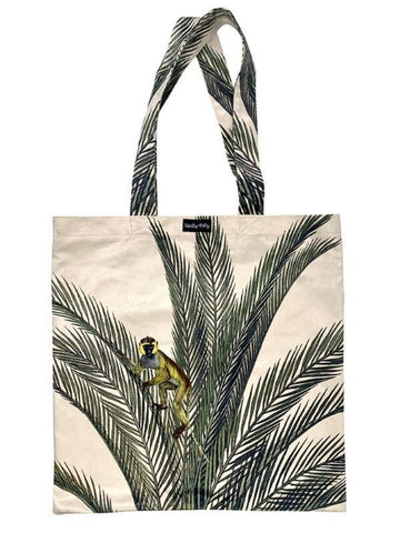 Velvet Tote Bag - Palm Monkey