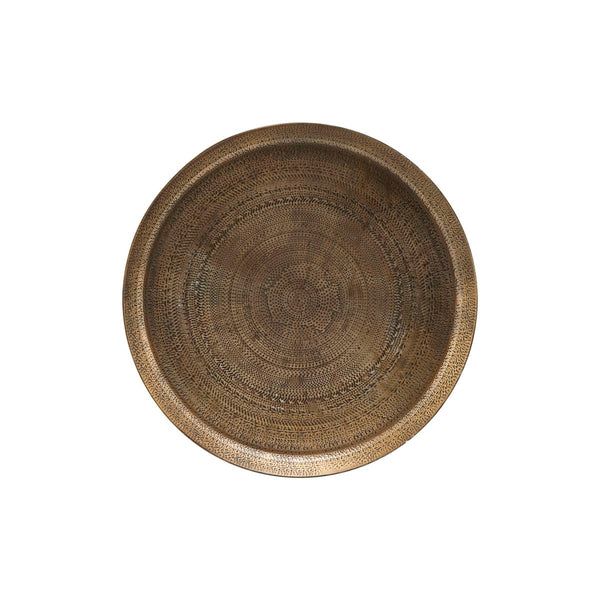 Tray Jhansi Antique brass finish