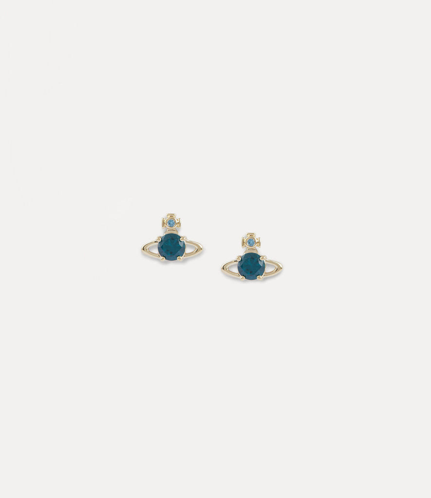Vivienne Westwood Reina Earrings - Gold Turquoise