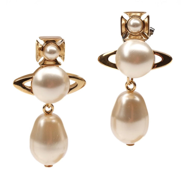Vivienne Westwood Inass Earring - Gold Creamrose