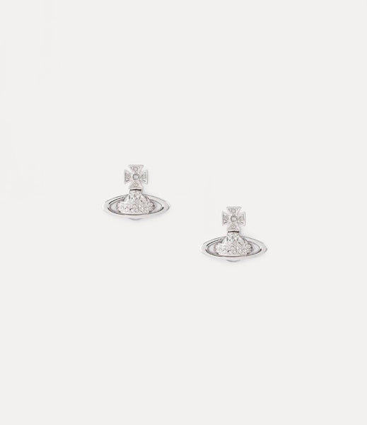 Vivienne Westwood SORADA BAS RELIEF EARRINGS SILVER TONE