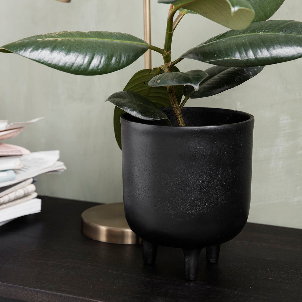PLANTER, JANG, BLACK OXIDIZED