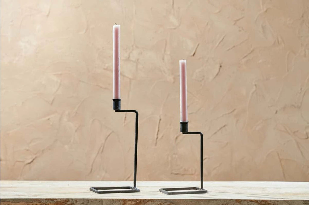 Janya Candlestick - Antique Black large