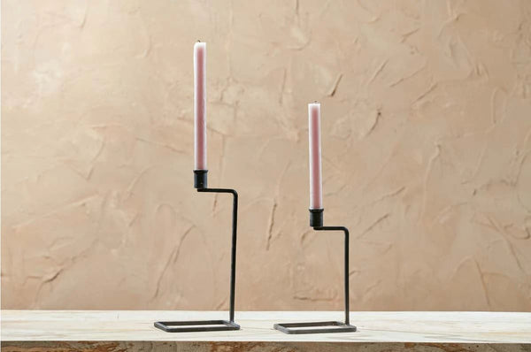 Janya Candlestick - Antique Black small