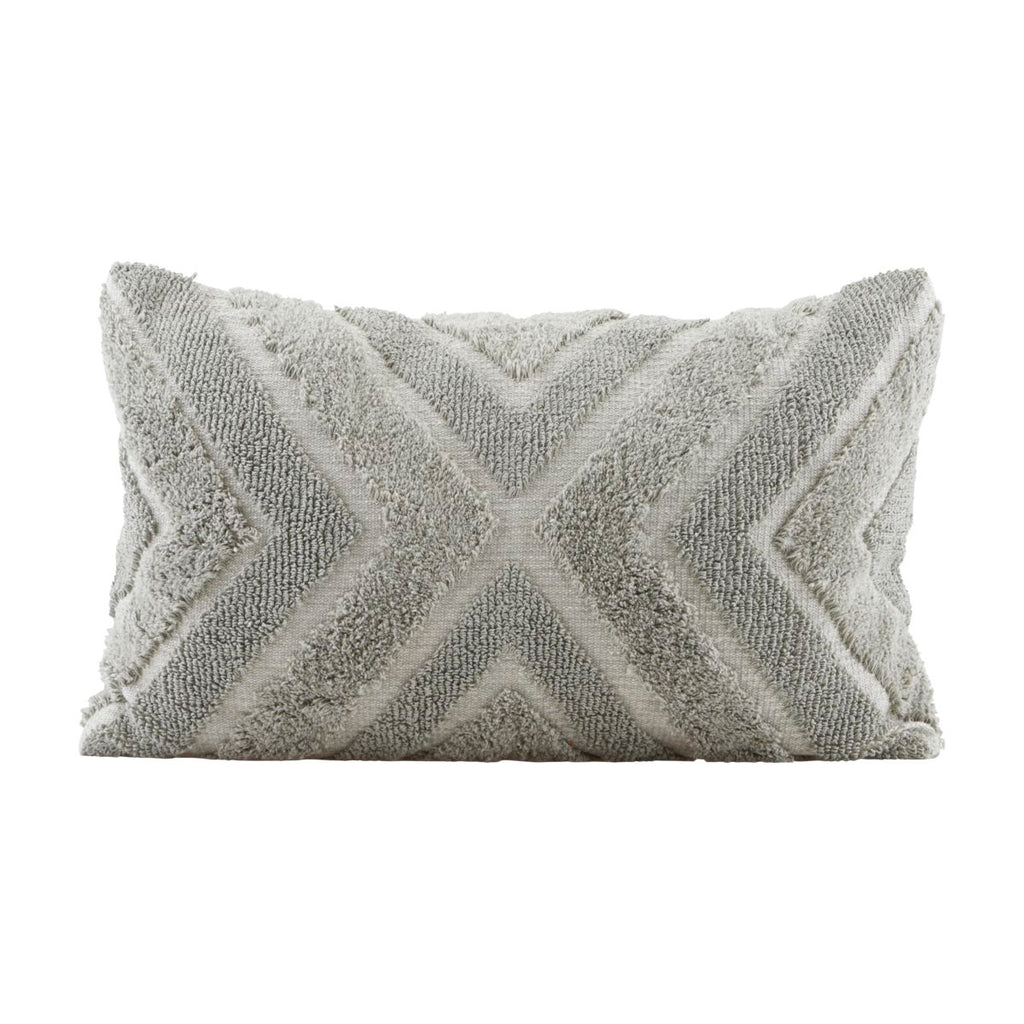 Cushion, INDIA, GREY/GREEN