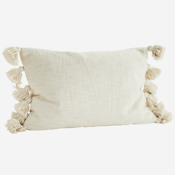 Cushion w/ Tassels - Off White