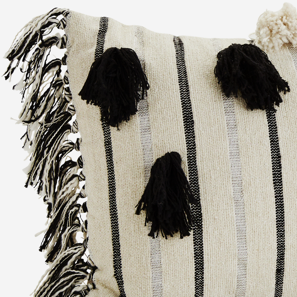 CHENILLE CUSHION COVER w/ TASSELS