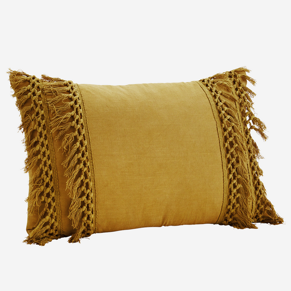 COTTON CUSHION COVER mustard