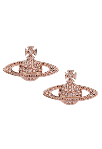 Vivienne Westwood Mini Bas Relief Earrings- Pink Gold
