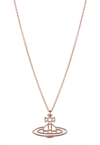 Vivienne Westwood Thin Lines Flat Orb Pendant - Pink Gold