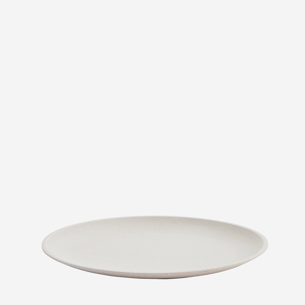 Bamboo side Plate - light Grey - set of 4